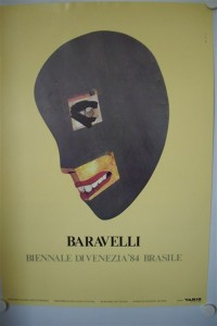 Baravelli, (Luiz Paulo): Gelbgrundiges Plakat der Biennale die Venezia 84, Brasile (Motiv: Per una topologia pratica)